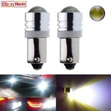 2Pcs 6V DC BAY9S H21W COB LED White Light Bulbs For Motorcycle Bike Machine Car