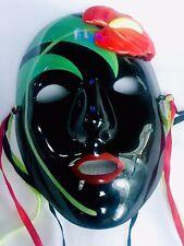 Vintage 1985 Pelzman Designs Vandor Japan Hand  Painted Ceramic Mask Anthurium