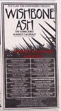 WISHBONE ASH Number The Brave Tour 1981 UK mini Press ADVERT 6x3 inches