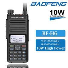 Baofeng BF-H6 10W UHF VHF 136-174/400-470MHz Walkie Talkie 2-Way Radio + Headset
