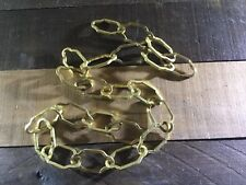 """Vintage Antique Chandelier Chain Chippy Gold Paint Cathedral Italian Tole 35-36"""""""