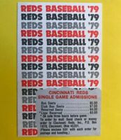 1979 Vintage Baseball Cincinnati REDS pocket schedule card tickets Johnny Bench