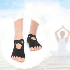 Yoga Pilates Barre Exercise Half Toe Grip Socks Non-Slip Cotton Ankle Socks JJ