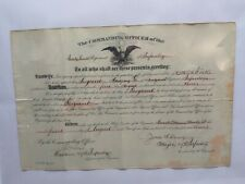 1903 Antique Us Infantry Military Promotion Document -Sergeant Framed/Signatures