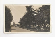 Longmoor Hampshire UK Real Photo Postcard Applepie Road RPPC Mailed 1916