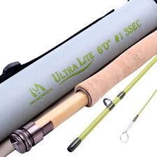 1WT Fly Rod 6FT Medium-Fast Fly Fishing Rod (Graphite IM10) & Cordura Rod Tube