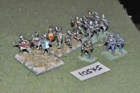 25mm medieval / generic - men at arms 17 figs - inf (10545)