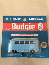 RARE! BUDGIE TOYS No 12 VOLKSWAGEN MICRO BUS IN USA BLISTER PACK