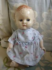 "Vintage Pedigree delite 9"" tall bent leg baby doll. Cute as a button."