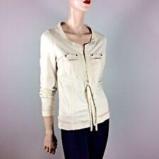 BEATE HEYMANN Damen Jacke M 38 Natur Stretch Figurbetont Designer Luxus Style
