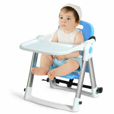 Baby Seat Booster Folding High Chair Home W/ Safety Belt & Tray Toddler