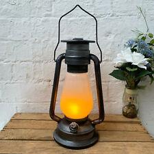 Traditional Black Eternal Battery Powered Home LED Flame Oil Lamp Light Lantern