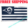 Deluxe Los Angeles Rams USA Stars Stripes Flag Banner 3x5 ft NFL 2019 Fan Gift