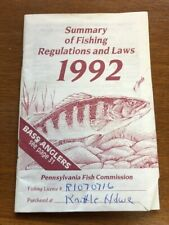 1992 Pennsylvania Summary of Fishing Regulations and Laws