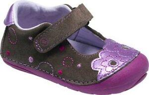 NIB Stride Rite Shoes Georgette Brown Berry 3 M
