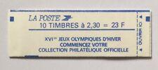 Carnet neuf** ni ouvert, ni plié n°2614-C 10, JO d'hiver. bande bleue