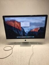 "Apple iMac 27"" A1419 3.4GHz Intel Core i7 16GB RAM 1TB HDD *BROKEN GLASS* AS-IS"