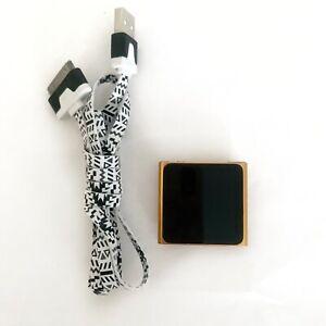 Apple iPod Nano 6th Generation Orange (8 GB) With USB Cable Bundle TESTED