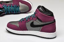 Nike Girls Air Jordan 1 Retro High GG SZ 5.5Y Mulberry Purple Grey 332148-505