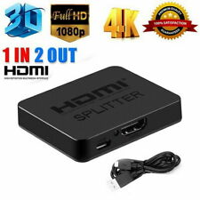 HDMI 1 in 2 out 1080p 4K 1x2 HDCP Stripper 3D Splitter Power Signal Amplifier