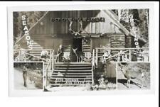 RPPC Real Photo Postcard Boulder Park Resort The Browns Dizzy Deer Baker Oregon