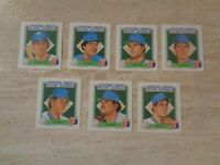 Lot of 7 Diff. 1988 Starting LineUp Baseball - Milwaukee Brewers - Paul Molitor