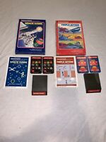 Space Hawk CIB OverLay & Triple Action CIB Overlay Intellivision TESTED & CLEAN!