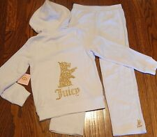 JUICY COUTURE BABY GIRLS BRAND NEW WHITE 2Pc SET HOODED SPORT SUIT Sz 18-24M,NWT