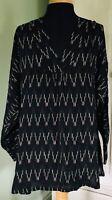 MASAI Arty Lagenlook BOHO Oversized Smock Long Shirt Tunic Top Black Size XS