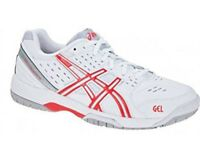 Womens Asics Gel Dedicate 3 OC E359Y 0121 White Diva Pink Ladies Trainers