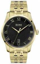 Boss | Heren Meester | Gouden Pvd Armband | Zwarte 1513739 Horloge -14%!