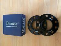 BLACK BIMECC ALLOY WHEEL SPACERS 10MM 5X120 72.6MM CB PAIR BMW FITMENT