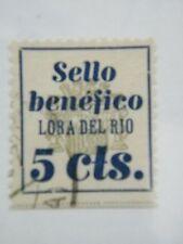 Sello Local Guerra Civil Lora del Río Cat. Gálvez 417 · ORD: 2001