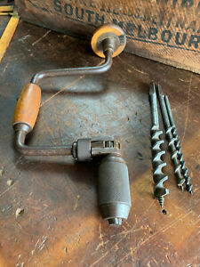 """Vintage Stanley Hand Brace/Drill No 144 - 10"""" Made in England"""
