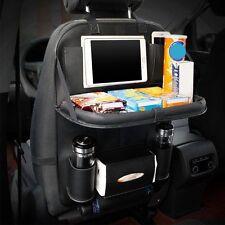 Car Seat Back Bag Organizer Storage iPad Phone Holder More Pocket Leather Black