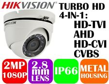 Hikvision 1080P 4-in-1 TVI/AHD/CVI/CVBS IR Turret Camera DS-2CE56D0T-IRMF 2.8mm