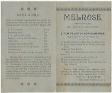 1890 Trotting Horse Promotion – George Haner, Melrose, NY