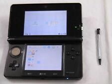 X4452 Nintendo 3DS console Cosmo Black Japan w/stylus pen