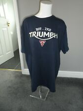 Bnwt new Triumph men`s navy blue with embroider short sleeved T-shirt size S