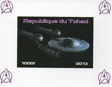 STAR TREK STARSHIP ENTERPRISE MINIATURE MINT IMPERFORATED STAMP SHEETLET 2013