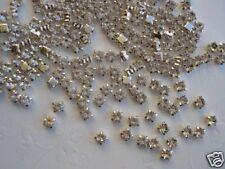 50 AA Glass Rhinestone Diamond Stud 4mm Accent/trim/bead/craft/Crystal Clear E1