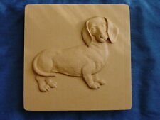 DACHSHUND DOG CONCRETE CEMENT PLASTER  STEPPING STONE MOLD 1259 Moldcreations