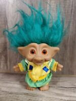 "Vintage Troll Doll 4"" Ace Novelty Treasure Red Star Wishstone"