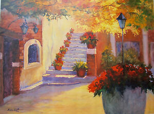 Geri Urban Srite ALBUQUERQUE AUTUMN Plate Signed Giclee on Canvas New Mexico