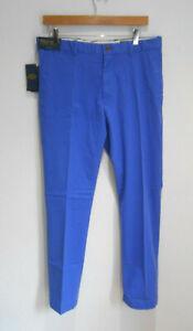 BNWT Ralph Lauren Polo Golf Range Fit blue trousers W 32 L32 NEW Diplomat blue