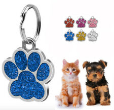 Bling Paw Shape Dog Tags Pet Puppy Cat ID Tag Kitten Collar Tags