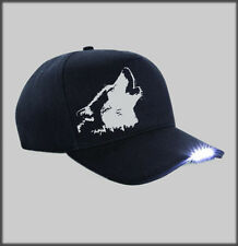 LED  SIBERIAN HUSKY FACE BASEBALL CAP SLED DOG HUSKIES SIBES PRESENT GIFT DAD