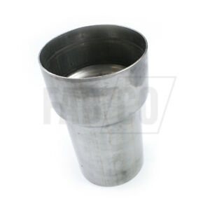 """Exhaust Reducer 3.5"""" - 4"""" Tube Joiner T304 Sleeve Connector Swaged to ID"""