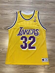 Vintage Champion Earvin Magic Johnson Los Angeles Lakers #32 Jersey NBA LA Rare