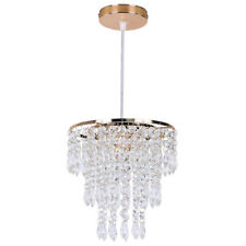 Crystal Chandelier Adjustable Pendant Lighting Ceiling Hanging Light Fixture